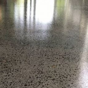 Exterior grind and seal polished concrete 1