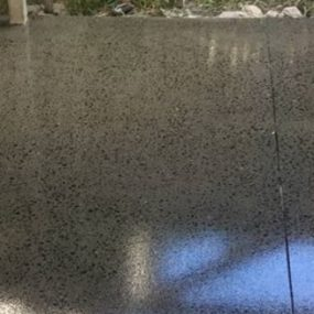 External concrete grind and seal non slip finish