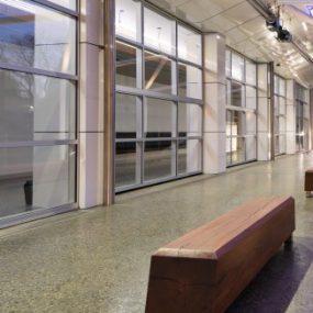 Art gallery external polished concrete non-slip
