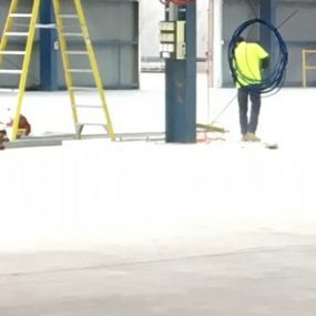 Industrial warehouse surface prep grind